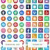 160 أيقونة مواقع التواصل الإجتماعي