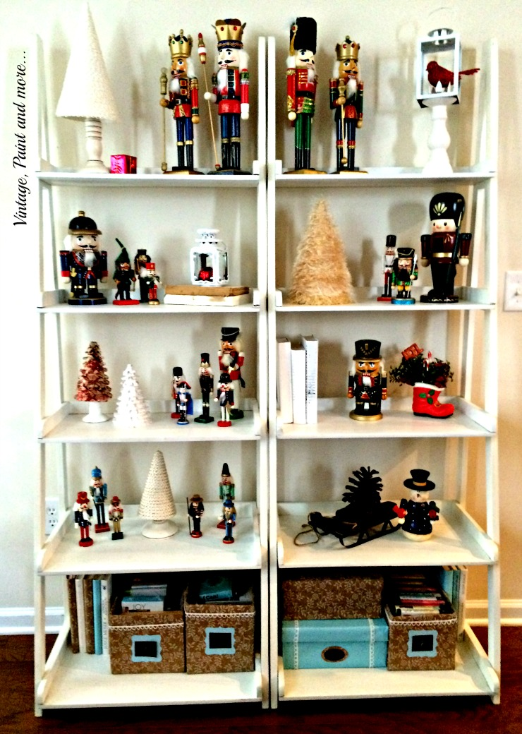 Vintage, Paint and more... decor with a collection of vintage nutcrackers