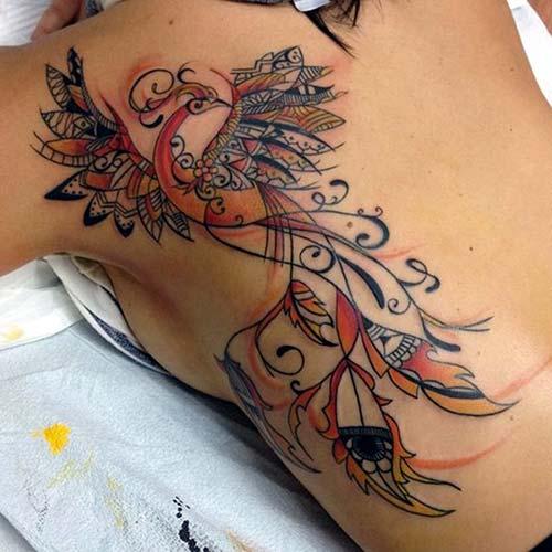 phoenix tattoo art en güzel anka kuşu dövmesi