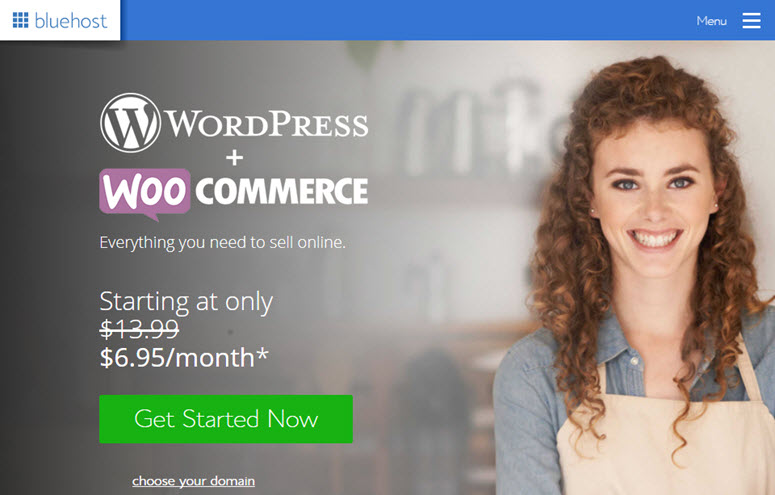 hosting woocommerce bluehost