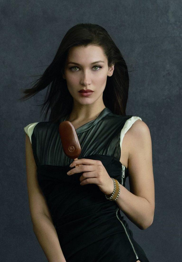 Bella Hadid x Alexander Wang Magnum Campaign