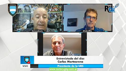 Carlos Martearena, Presidente de la Unión de Rugby de Salta