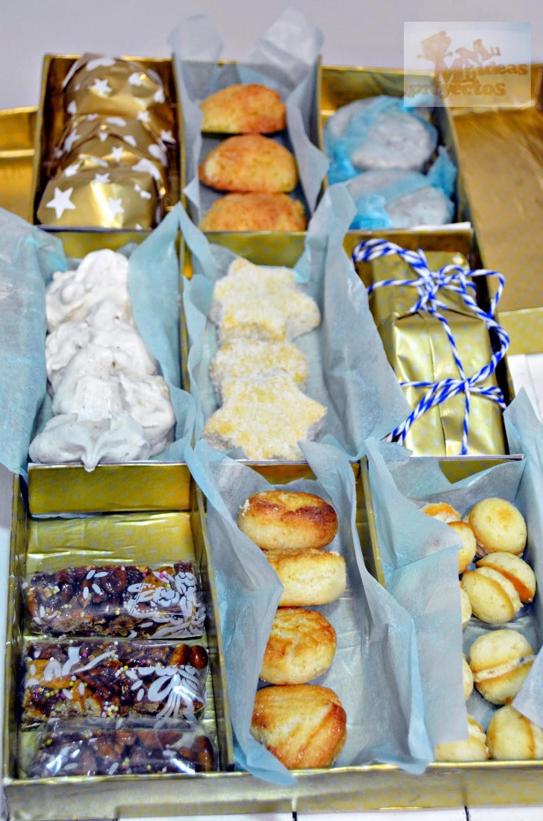 forrar una caja para regalo para los dulces de navidad