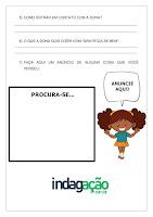 Atividade Procura-se Espuminha (Texto de Anúncio); PDF Grátis