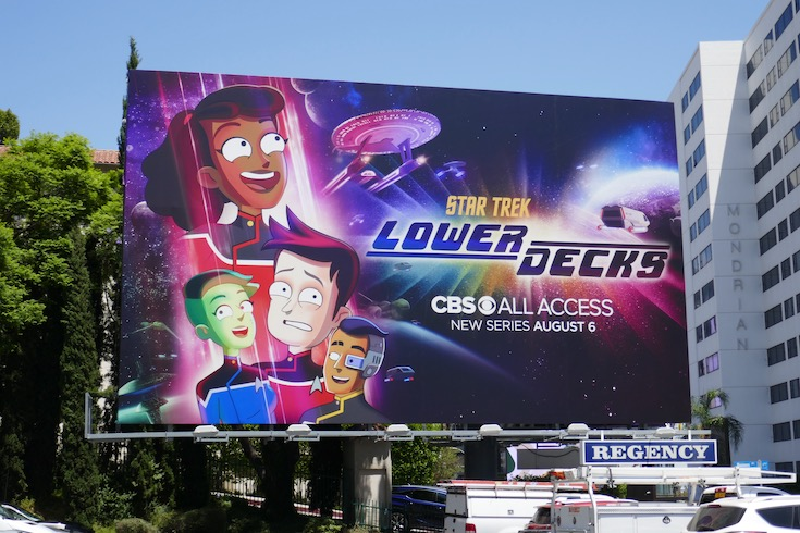 Star Trek Lower Decks season 1 billboard
