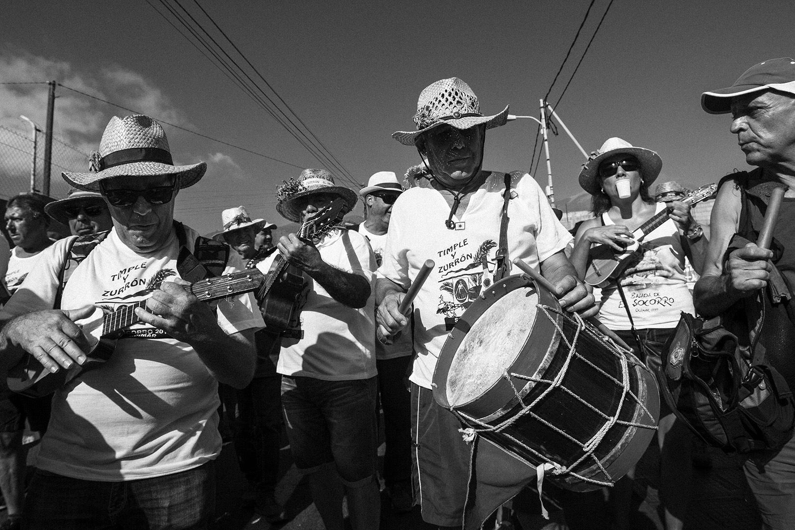 Romeria, Guimar - Socorro; Procession with music, drums