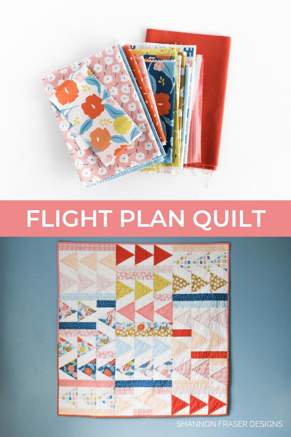 Rollakan Flight Plan Quilt | Modern Quilt Pattern | Shannon Fraser Designs #modernbabyquilt #babyquilt