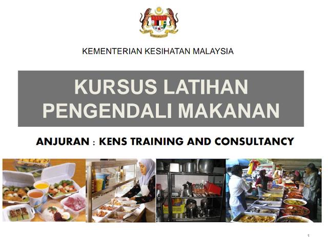 Cara kursus online pengendali makanan, food handler course, kursus penyediaan makanan, kursus kkm