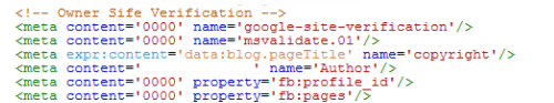 Meta Site Verification