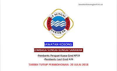 Jawatan Kosong Lembaga Sungai - Sungai Sarawak 2018