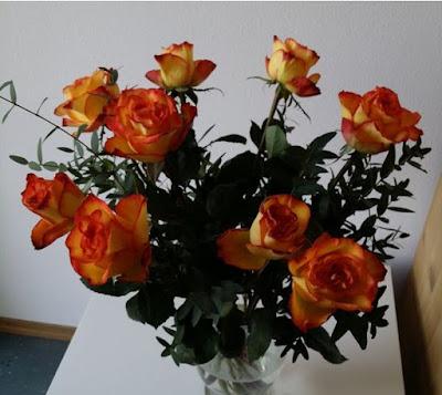 Neun Rosen - neun Jahre