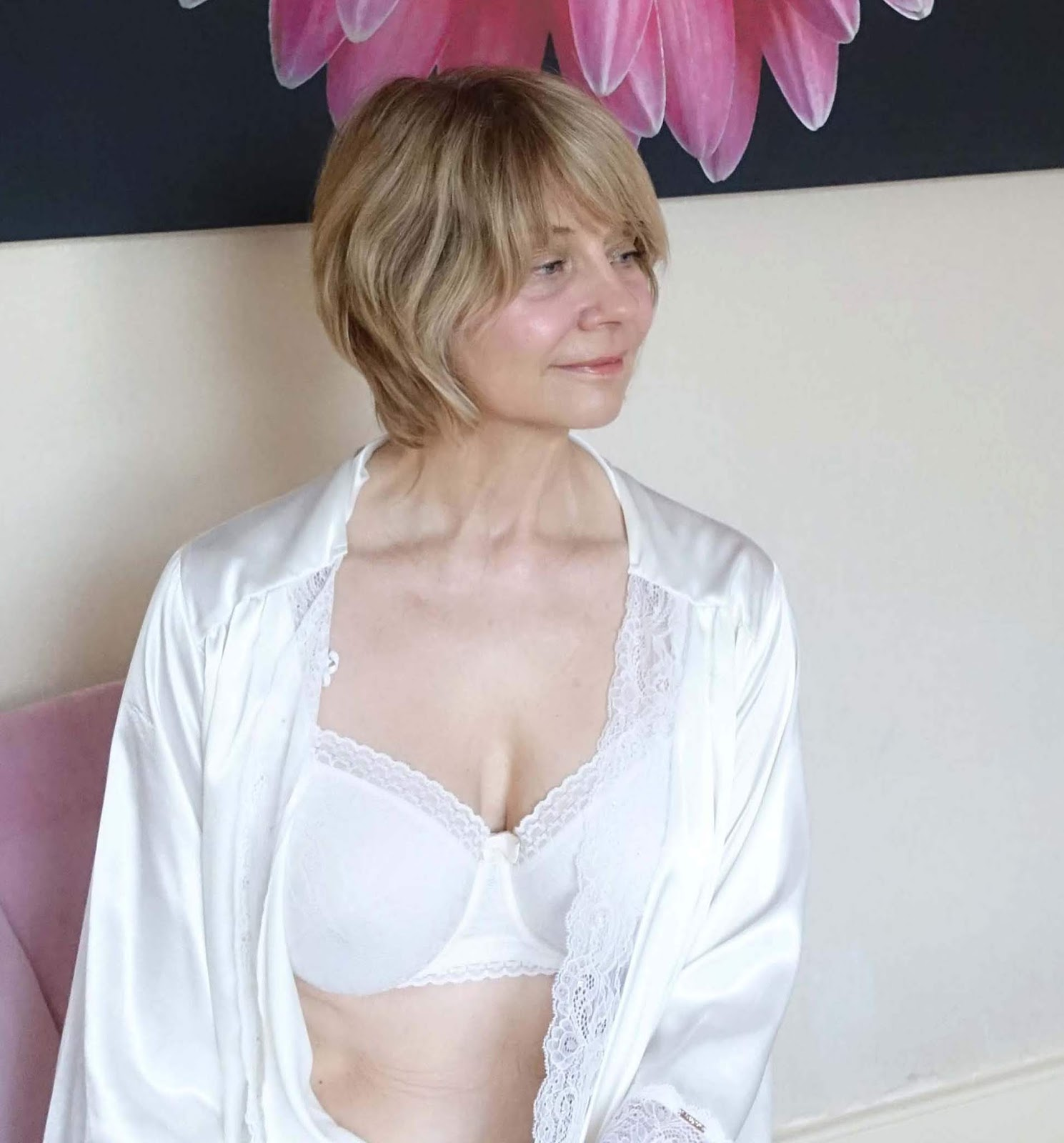 The history of Playtex and memories of the first bra from UK over-50s blog Is This Mutton? Shown here the Platex Invisible Elegance balconette bra in antique white.