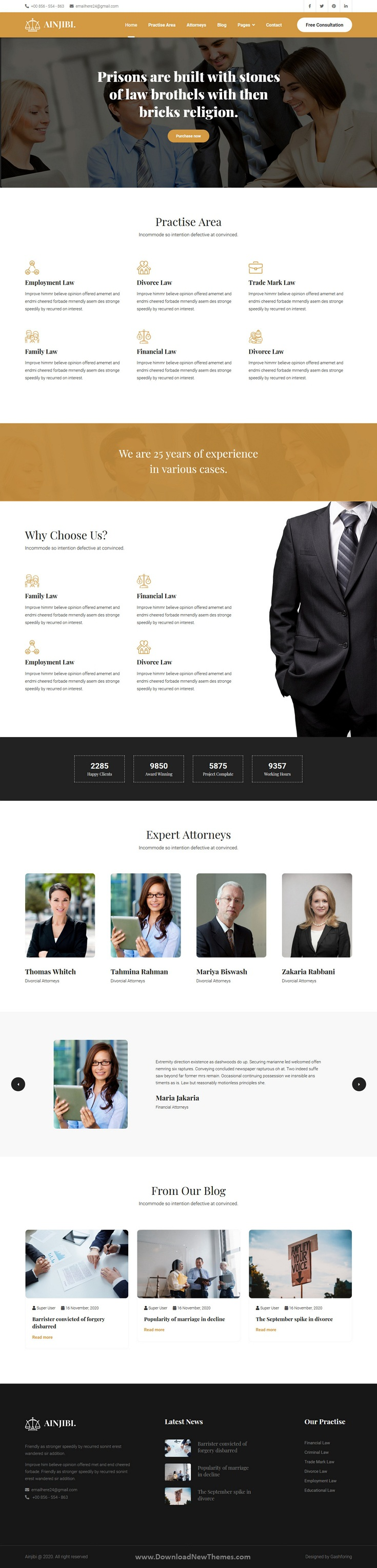 Attorney and Lawyer Joomla Template