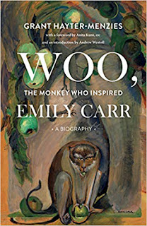 Woo the Monkey who inspired Emily Carr book cover. Summer reading 2019