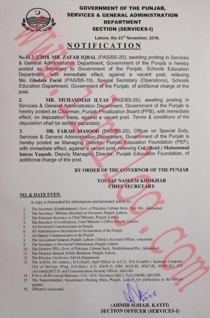 New Secretary Education Punjab