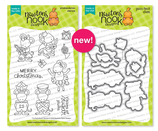 The Nutcracker Squeak Stamp and Die Set by Newton's Nook Designs #newtonsnook