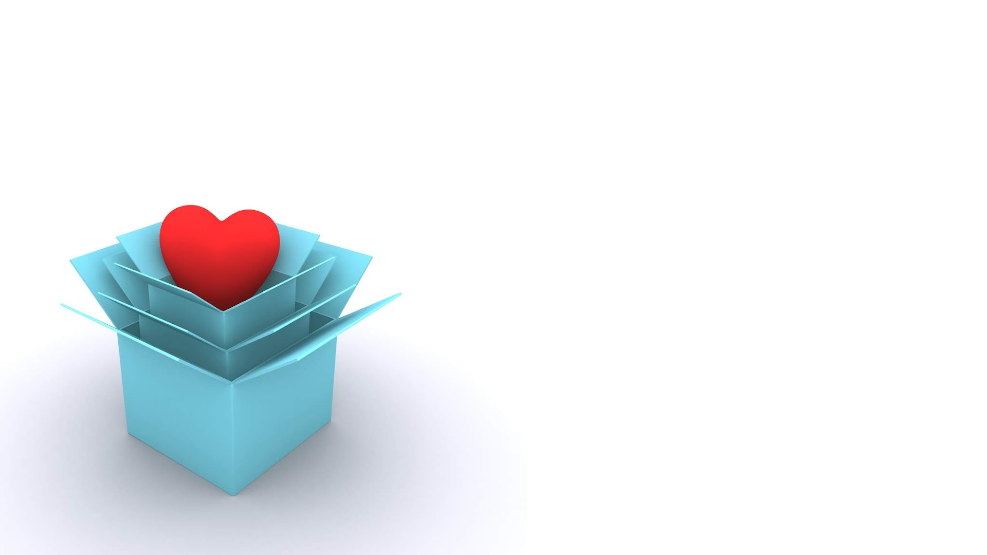 Heart in box - free valentine background