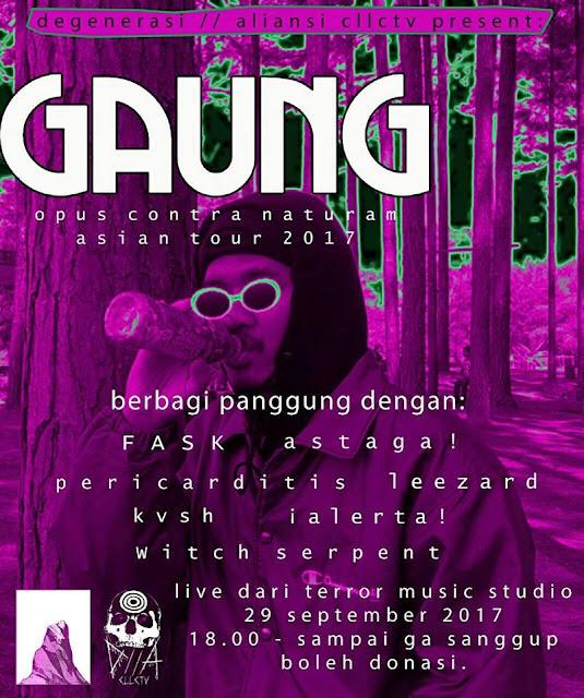 """Gaung """"Opus Contra Naturam tour #1"""" Cianjur"""