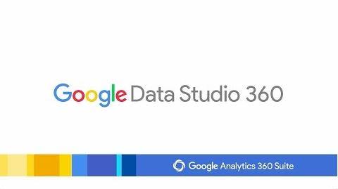 Google的視覺化資料工具Data Studio