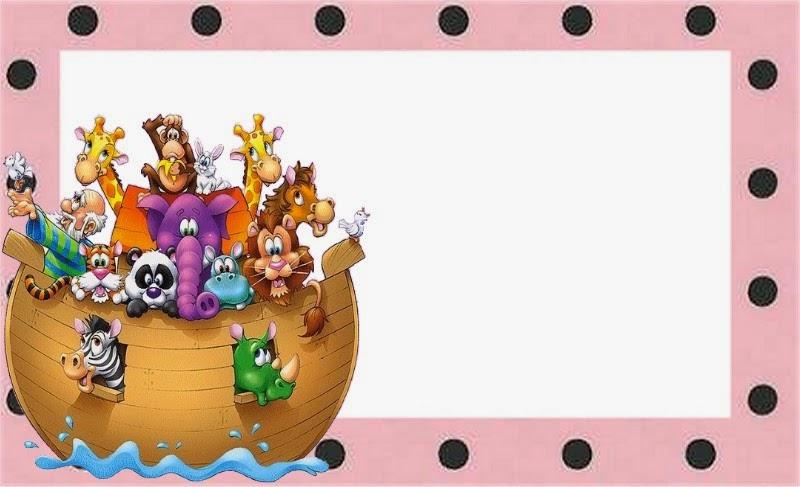 Arca de Noé para Niñas: Invitaciones para Imprimir Gratis.   Oh My Bebé!