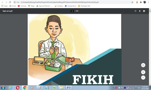 Buku fikih kelas 6 sd/mi sesuai kma 183 tahun 2019