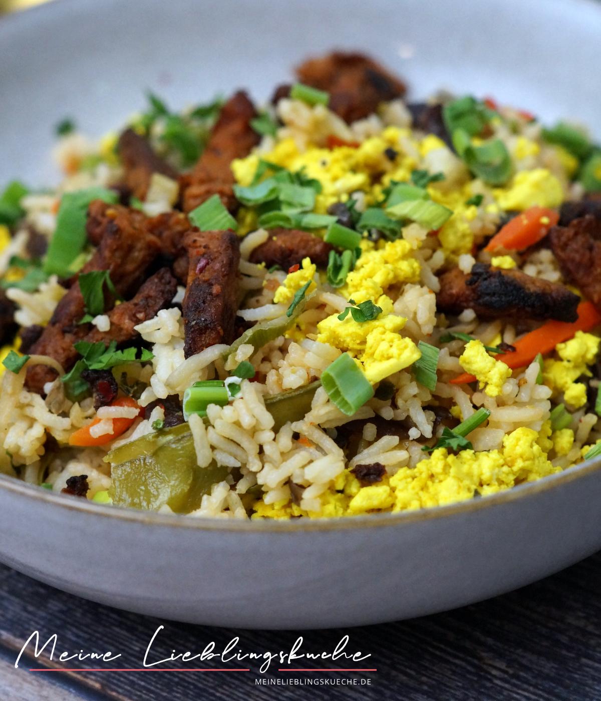 Spicy Fried Rice mit Soja Beef