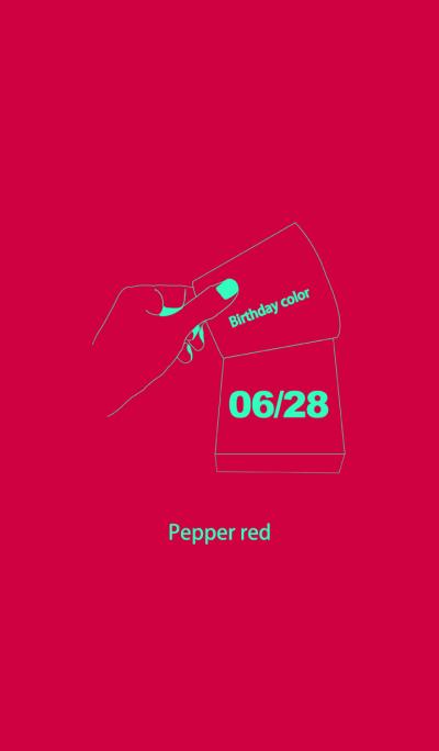 Birthday color June 28 simple: