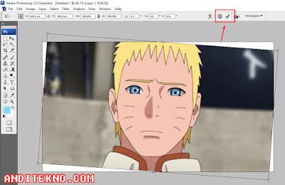 Cara Memutar Gambar di Photoshop