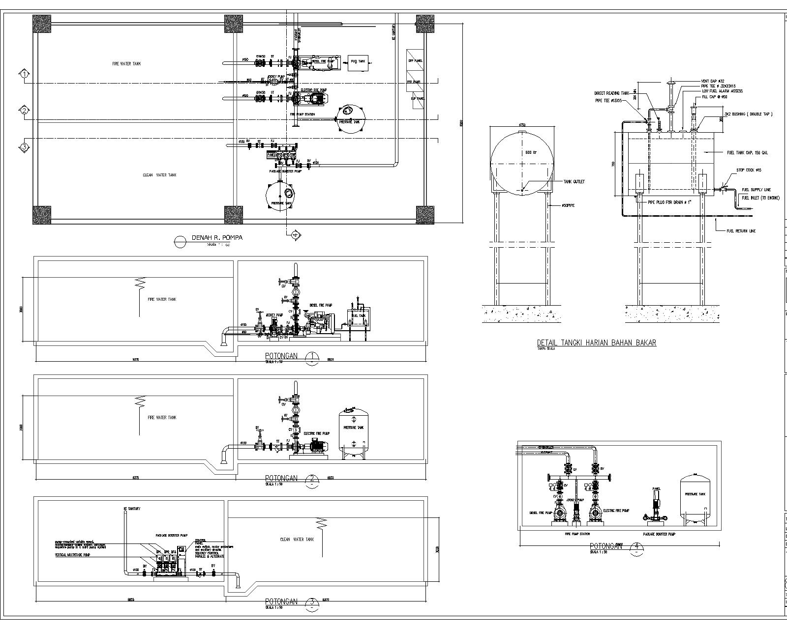 Jockey Pump Wiring Diagram Library Single Speed Spa Circulation Contoh Ruang Pompa Hydrant Springkler Booster