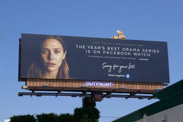 Elizabeth Olsen Sorry for your Loss Emmy FYC billboard