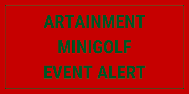 There's an art-based minigolf course at the von ammon co art gallery in Washington DC, USA