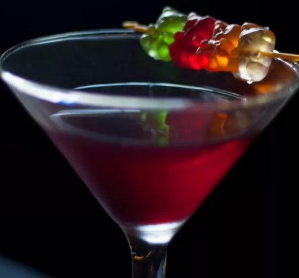 Gummy Bear Martini #drinks #vodka