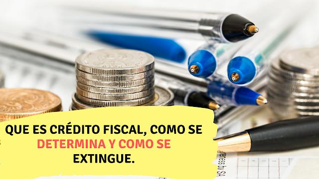 Que es crédito fiscal, como se determina y como se extingue.  contador millennial