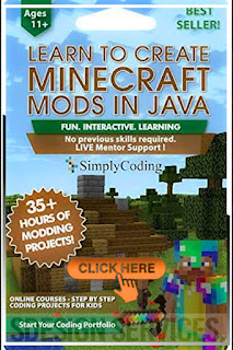 Coding for Kids: Learn to Code Minecraft Mods in Java - Video Game Design Coding Software Courses