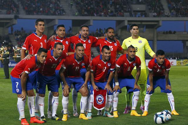 Formación de Chile ante Bolivia, amistoso disputado el 14 de octubre de 2014