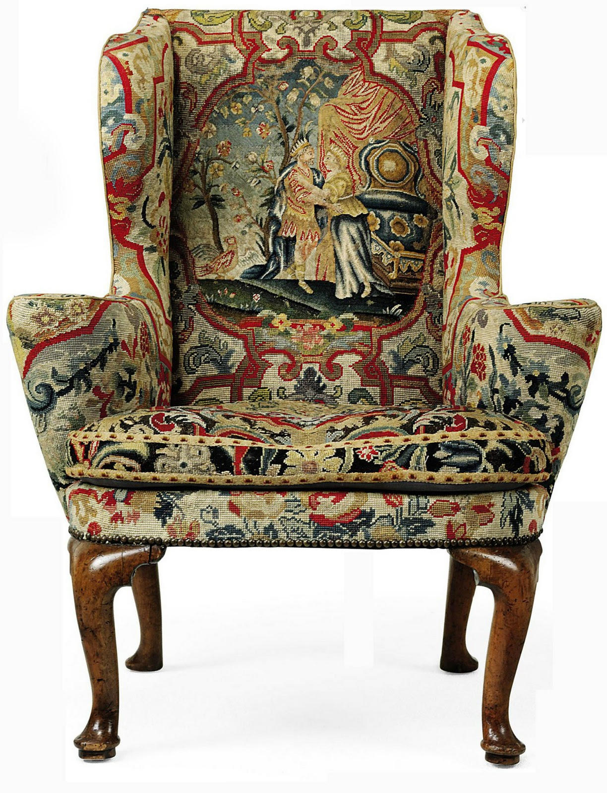Antique Style: 18th Century George III Wingback Chair