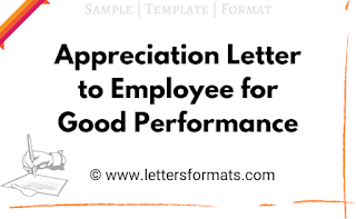 sample appreciation letter to an employee for good work or honesty