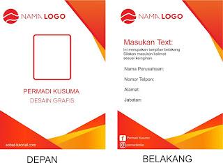 Contoh Desain ID Card Keren Cdr