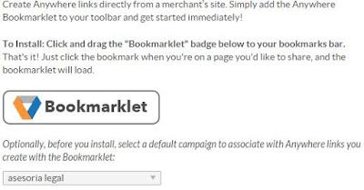 Crear enlaces para ganar dinero desde marcadores del navegador