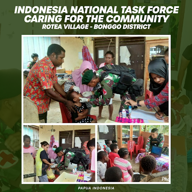 Form of TNI's Concern to the People of Rotea Papua Indonesia