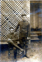 Ira Baker (seated) and Sidney Baker (standing) Kerrville, Texas 1917