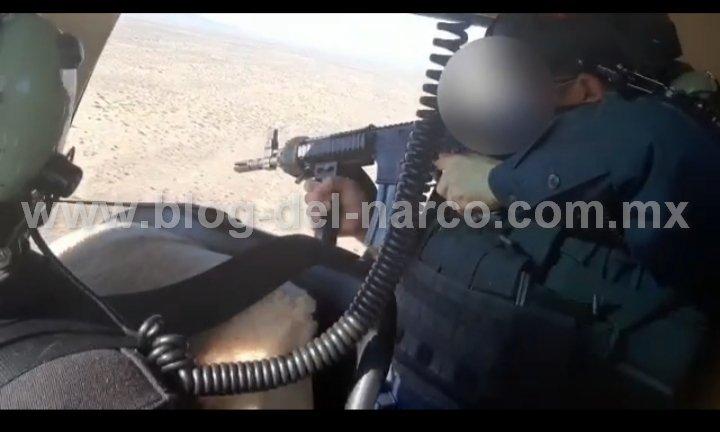 Vídeo; en Caborca Sonora, Desde helicóptero Policías repelieron ataque de Sicarios y los capturaron