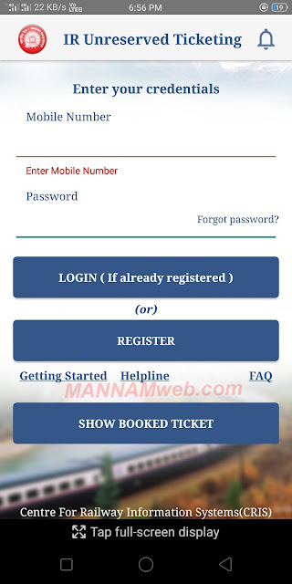 Good News Indian Railway - Mobile App for Railway Tickets booking- No Que