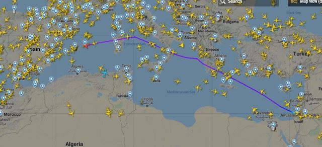 المجال الجوي التونسي والجزائري مغلق أمام رحلة ''تل أبيب الرباط''