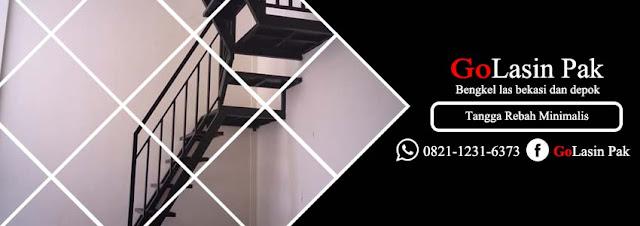 harga tangga rebah vertikal besi siku galvanis