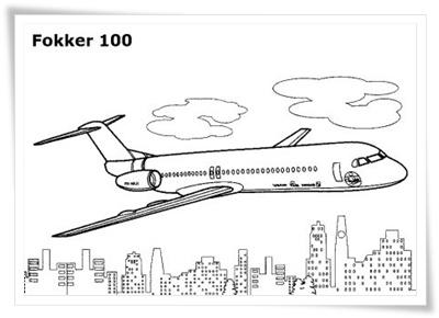 Ausmalbilder zum Ausdrucken: Ausmalbilder Flugzeuge