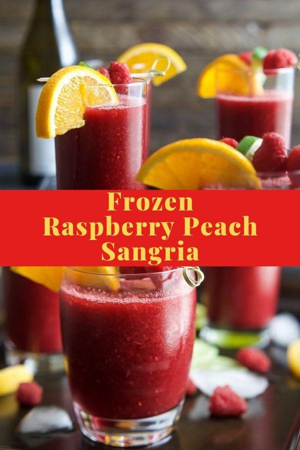 Frozen Raspberry Peach Sangria