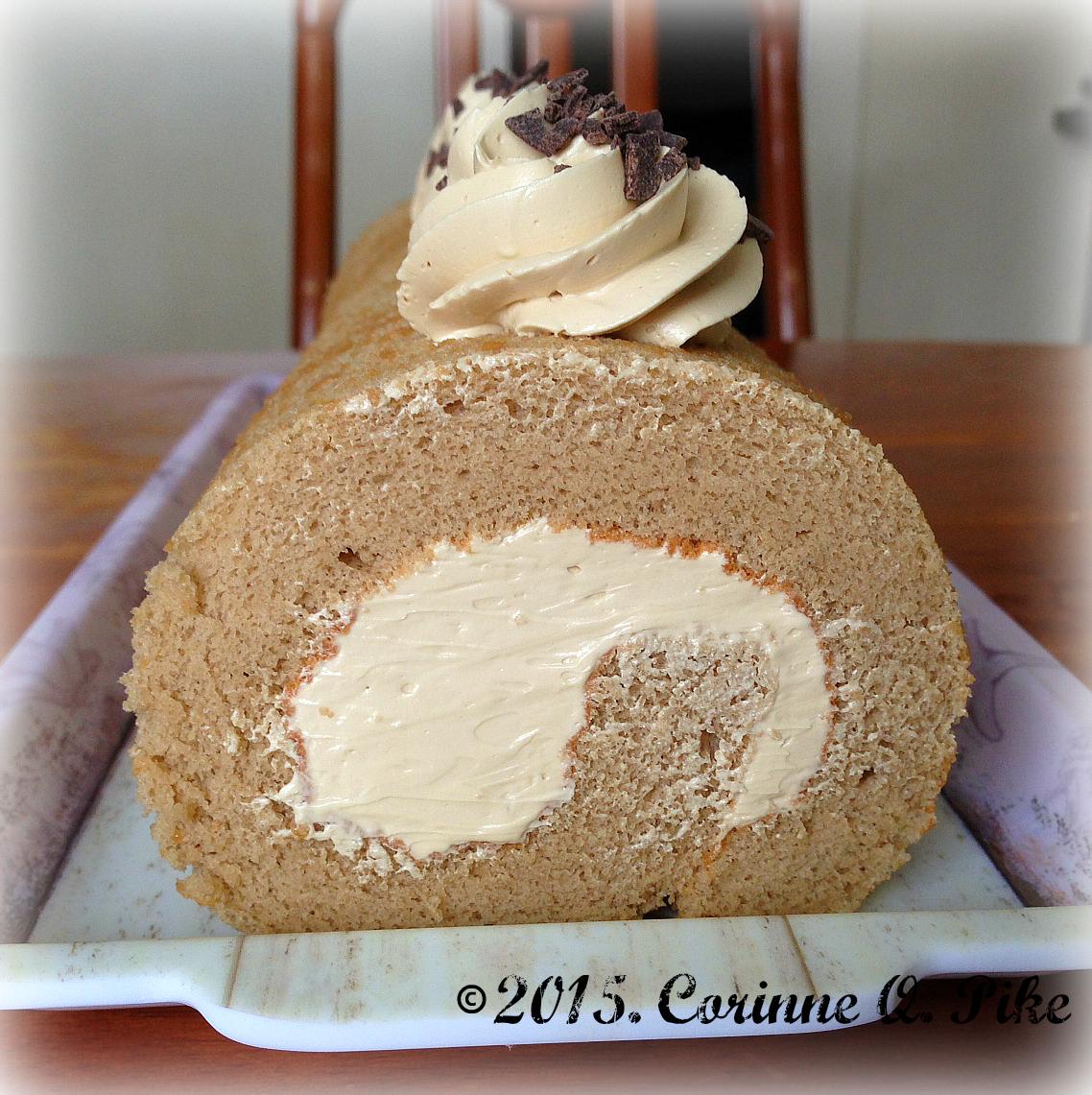 Chocolate Chiffon Cake Roll