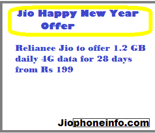 { Happy New Year }Reliance Jio to offer 1.2 GB daily 4G data for 28 days from Rs 199