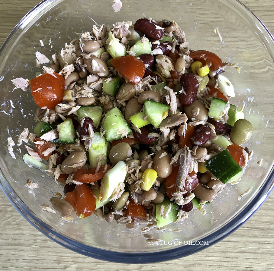 Mixed Bean Salad with Tuna